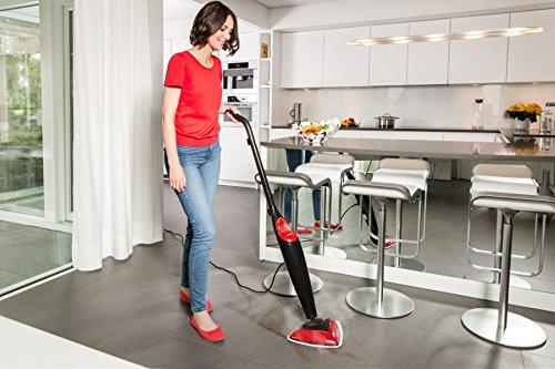 Vileda Steam, handlicher Dampfreiniger für hygienische und gründliche Sauberkeit,1550 Watt, inklusive 2 hochwertiger Mikrofaserbezüge - bekannt aus TV - 2 Jahre Garantie - 4