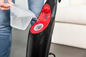Vileda Steam, handlicher Dampfreiniger für hygienische und gründliche Sauberkeit,1550 Watt, inklusive 2 hochwertiger Mikrofaserbezüge - bekannt aus TV - 2 Jahre Garantie - 6