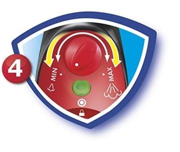 Vileda Steam, handlicher Dampfreiniger für hygienische und gründliche Sauberkeit,1550 Watt, inklusive 2 hochwertiger Mikrofaserbezüge - bekannt aus TV - 2 Jahre Garantie - 8