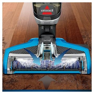 Bissell 17132 Crosswave 3-in-1 Nass- & Trockensauger (für Hartböden und Teppiche) titanium und blau -